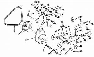 Omc Stern Drive Power Steering Pump Parts For 1988 5 7l
