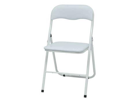 conforama chaise pliante chaise pliante breva coloris blanc vente de table et
