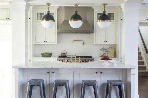 kitchen island with seating and storage kitchen island columns transitional kitchen julie