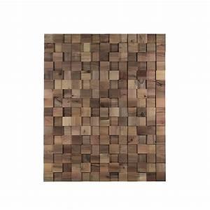 Panneau Bois Decoratif : panneau mural d coratif manhattan en bois naturel de noyer ~ Teatrodelosmanantiales.com Idées de Décoration