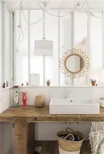 Plan De Travail Salle De Bain : 7 id es d co avec du bois pour refaire sa salle de bain ~ Premium-room.com Idées de Décoration