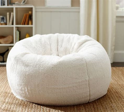 faux sheepskin beanbag cover contemporary bean bag