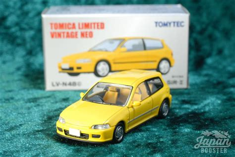 tomica limited vintage neo lv n48c 1 64 honda civic sir ii yellow