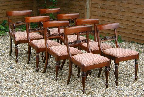 set of eight reproduction regency style mahogany