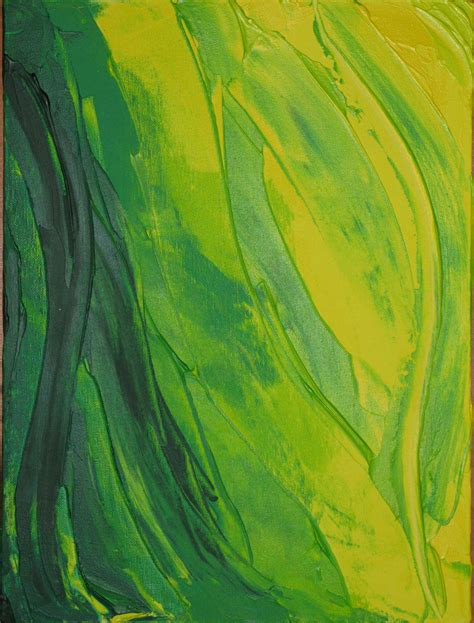 painting with green green yellow waves designs dieuwke swain