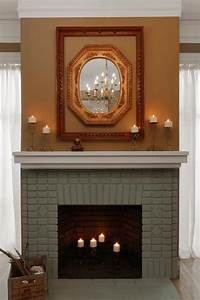 Painted Brick Fireplace Makeover how-tos DIY