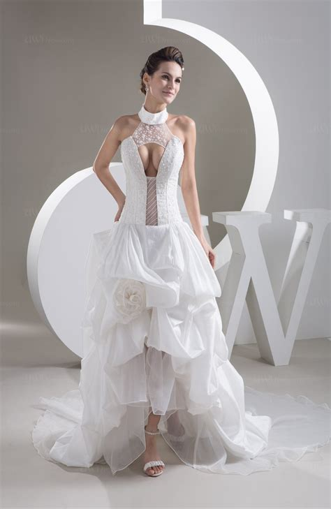 allure bridal gowns lace high neck sexy illusion fall