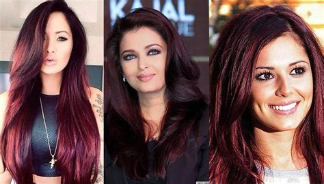 Chocolate Cherry Hair Color Pictures, Formula With Red