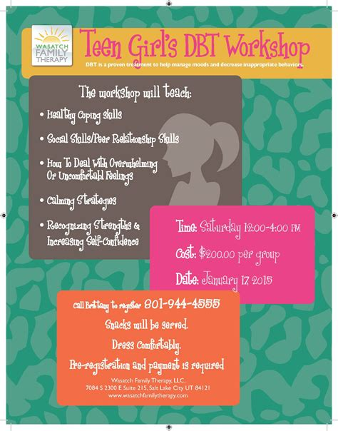 dbt therapy group  teens wasatch family therapy