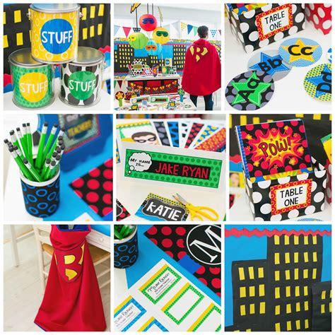 superhero classroom theme schoolgirlstyle