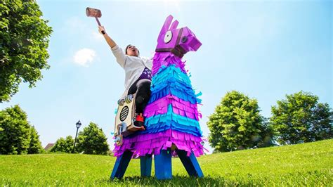 giant fortnite loot llama pinata  real life youtube