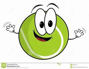 Tennis Ball Cartoon Character Cartoon Vector ...