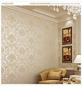 Golden Luxury 3D wallpaper bedroom wall papers TV ...