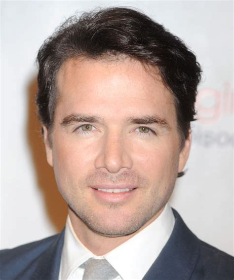 Matthew Settle Short Straight Formal Hairstyle   Dark