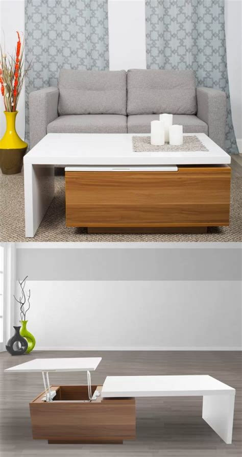 Zeny modern funiture coffee table with lift top hidden compartment & storage shelves. 33 Beautiful Lift-Top Coffee Tables To Help You Declutter and Multi-Task