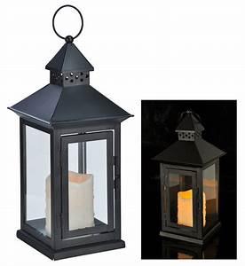 Laterne Kerze Draußen : laterne mit led kerze 15x15x34cm 70271 ~ Watch28wear.com Haus und Dekorationen