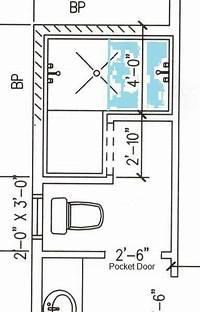 walk in shower dimensions Room for doorless shower here? - Bathrooms Forum ...