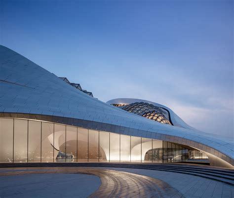 Opernhaus In Harbin by Opernhaus In Harbin Geneigtes Dach Kultur Baunetz Wissen