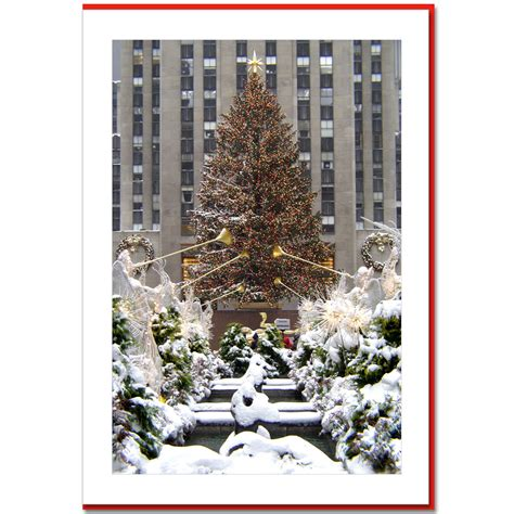 rockefeller center christmas tree new york ny christmas photo card ny christmas gifts