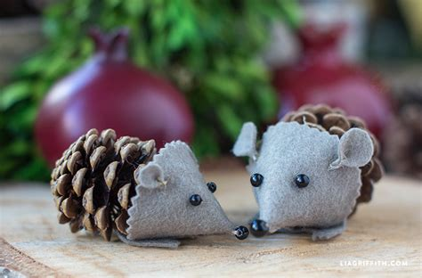 The Chew Templates Pine Cones Animals by Felt Pinecone Hedgehog Lia Griffith