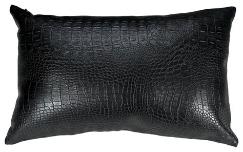 black leather throw pillows croc faux leather decorative throw pillow contemporary decorative pillows by wallpaper and