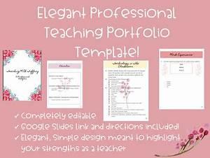 professional teaching portfolio template editable With teaching portfolio template free