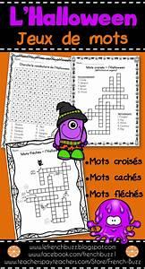 Plein D Huile Mots Fléchés : l 39 halloween mots crois s cach s fl ch s french halloween halloween and french ~ Medecine-chirurgie-esthetiques.com Avis de Voitures