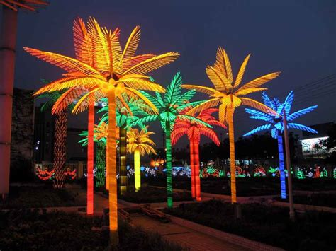 Coconut Palm Tree Led Lighted Outdoor Decors-buy Led
