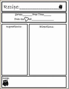 recipe templates templates and recipe on pinterest With kids cookbook template