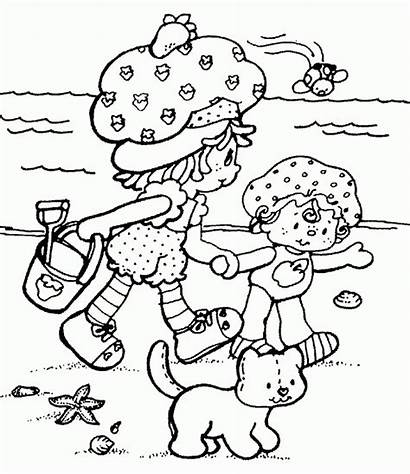 Coloring Summer Pages Beach Shortcake Strawberry Printable