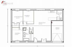 plan maison 90m2 avec garage plan maison pinterest With plan maison plein pied 90m2