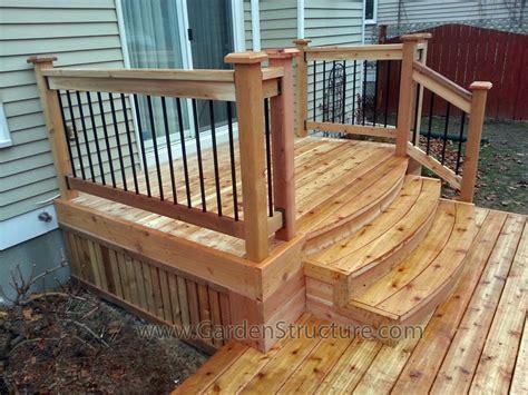 premade porch steps pre made deck steps deck design and ideas