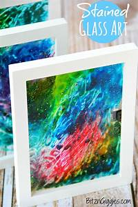 Stained Glass Art - A super simple project that uses glue ...