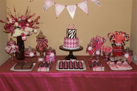sweet sixteen dessert table pin by lisa pride on 16th birthday ideas pinterest