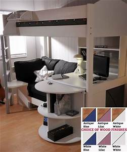 fancy stompa casa 4 loft bed with desk and sofa bed With loft bed with sofa and desk