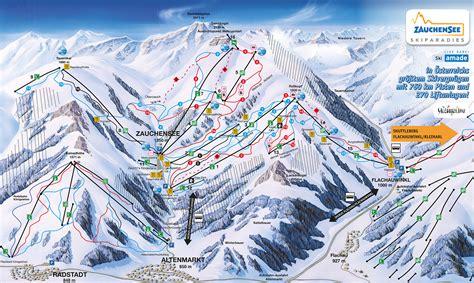 bergfex piste map zauchensee flachauwinkl ski amade