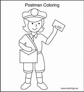 Post Office Coloring Page AZ Coloring Pages Coloring Pages ...