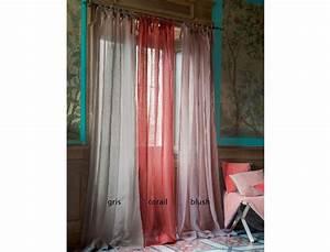 Rideaux En Solde : rideau en lin roses tentation linvosges ~ Teatrodelosmanantiales.com Idées de Décoration