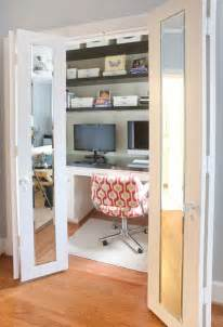 Coat Closet Turned Mudroom by Inventive Design Ideas For Small Home Offices