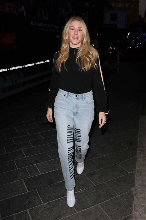 ellie goulding arrives for her interview on capital ...