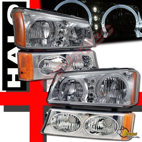 2003 2006 chevy silverado avalanche halo led headlights