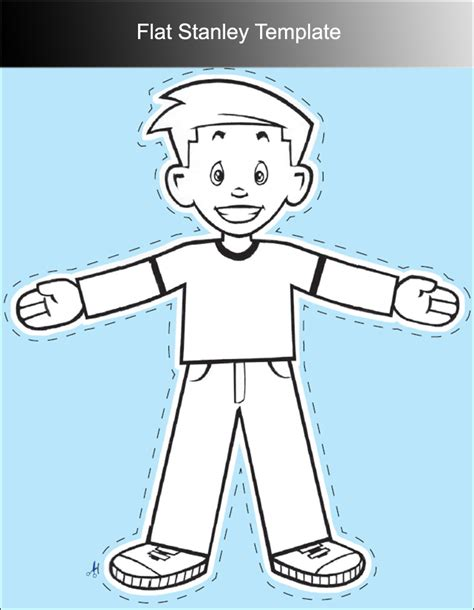 Flat Stanley Template 45 Flat Stanley Templates Free Creative Template