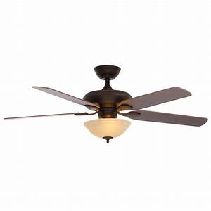Hunter stockbridge in new bronze ceiling fan the home depot