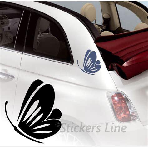 adesivi auto fiori kit adesivi farfalle 2 smart fiat 500 fiori auto moto