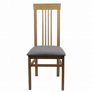 Chaise En Tissu Gris : chaise bois et assise tissu gris clair mod le anna ~ Teatrodelosmanantiales.com Idées de Décoration