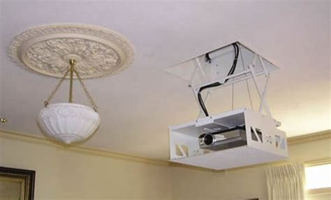 good questions hidden ceiling mounted projector home