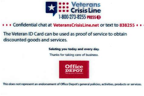 The military id card doubles as a health insurance card. VA ID Cards Include Office Depot Logo   Military.com
