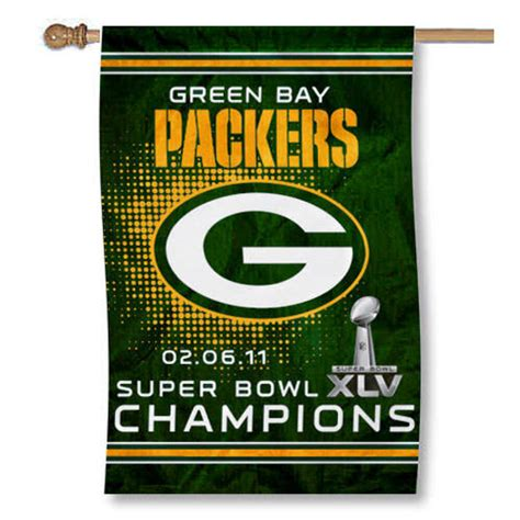 Green Bay Packers Super Bowl Xlv Champions Flag And Super