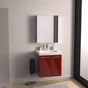 Meuble Sous Escalier Leroy Merlin : meuble sous vasque x x cm rouge sensea ~ Dailycaller-alerts.com Idées de Décoration
