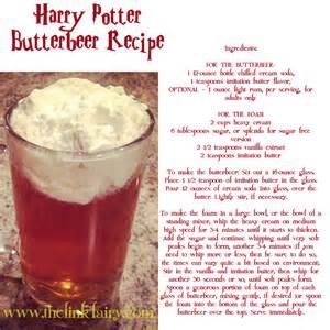 Harry Potter Universal Butterbeer Recipe